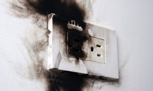 power surge; power spike; whole home surge protection; burnt plug; burnt outlet; burnt receptacle; electrical fire