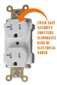 Childproof plug, TR, Tamper resistant plug, receptacles, socket, outlet, electrical, decora
