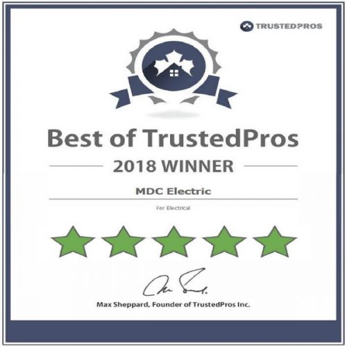Best of Trusted Pros 2018 by MDC Electric