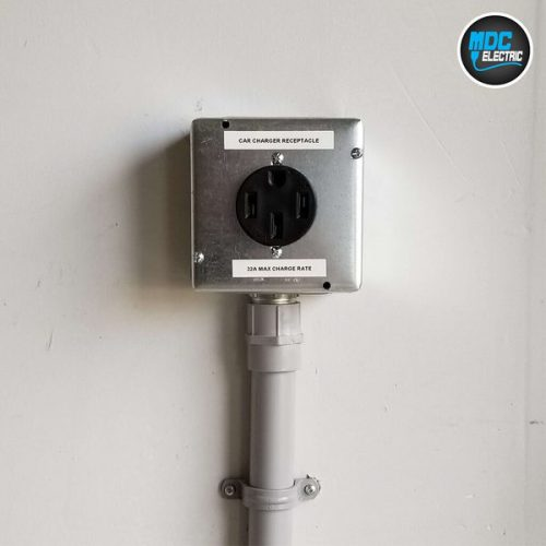Nema 14-50 receptacle installation in Markham by MDC Electric