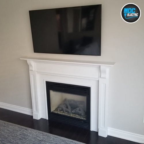 TV wall mounting installation in Newmarket by MDC Electric