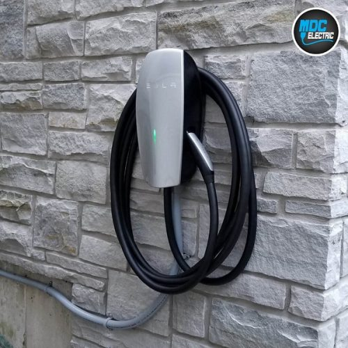 Tesla model x charger installation Toronto by MDC Electric