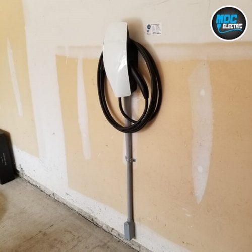 Residential electric car charger installation
